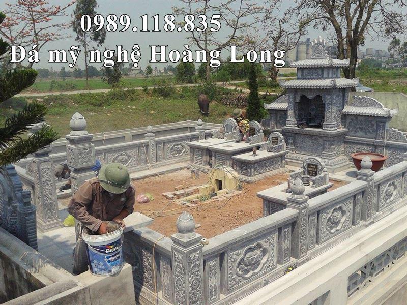 Khu Lang mo da gia dinh Bac Nam o Hai Phong