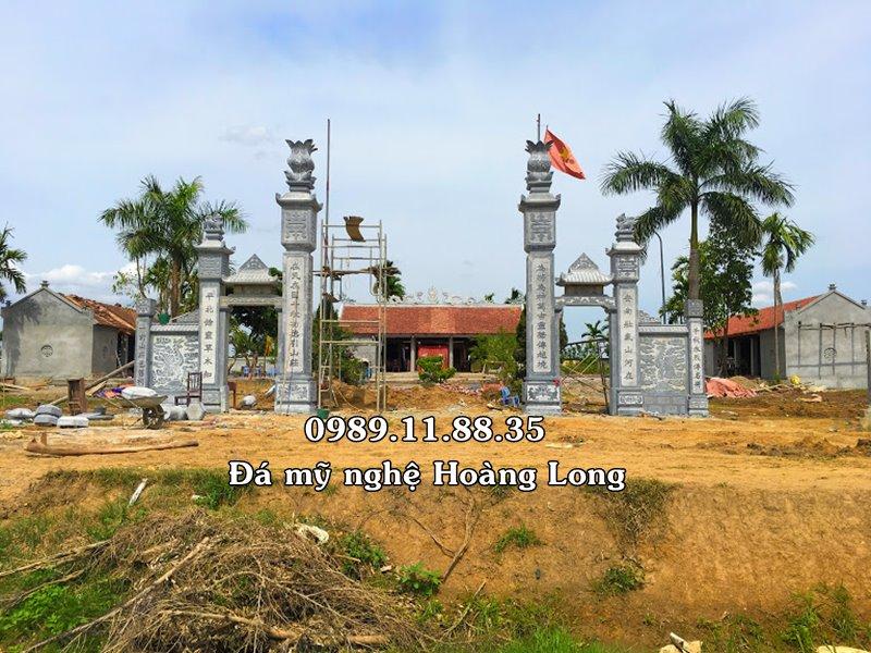 Chế tác cổng đình làng bằng đá tại Chương Mỹ, Hà Nội