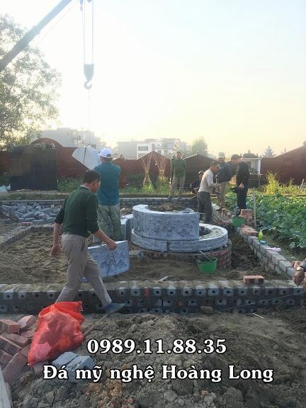 Chế tác và lắp đặt mộ đá tròn tại Bắc Giang