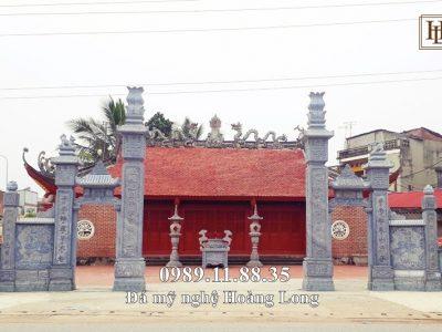 Cổng đá tam quan đẹp lắp đặt tại Bắc Giang