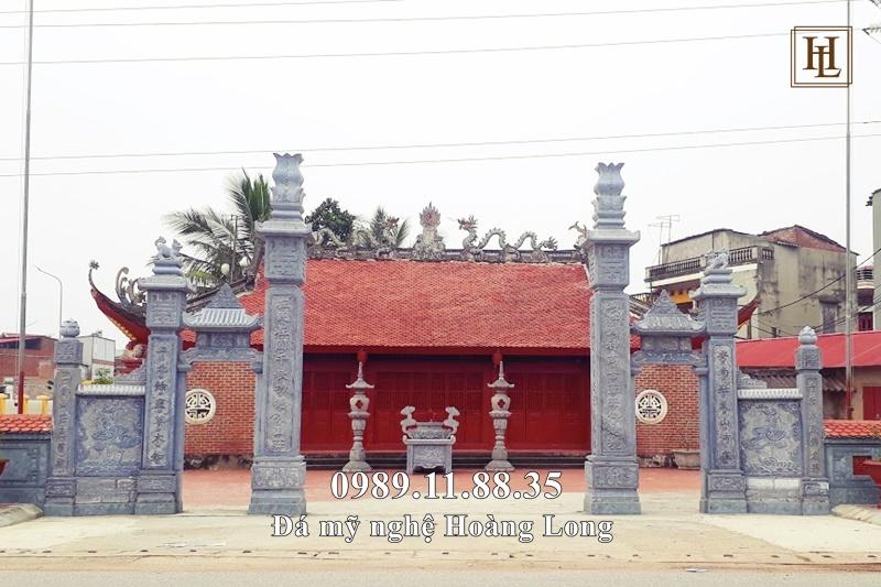 Cổng tam quan đá đình chùa