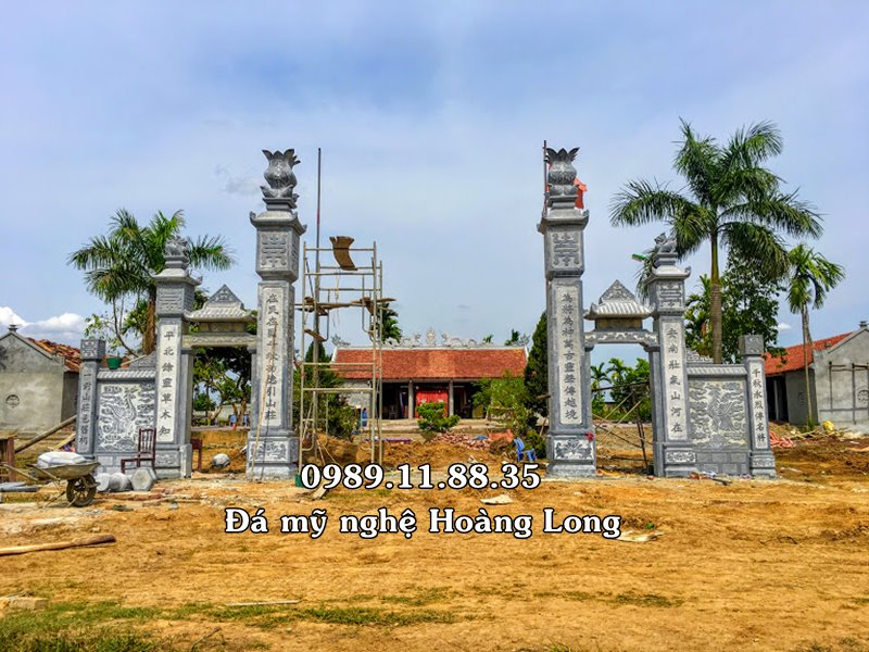 Cổng tam quan đá đình làng Hà Nội