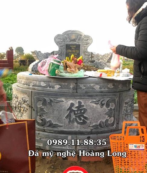 Làm mộ đá tròn tại Bắc Giang