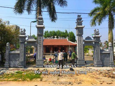 Lắp đặt cổng đá đình làng tại Vĩnh Phúc