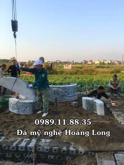 Mộ đá tròn lắp tại Bắc Giang