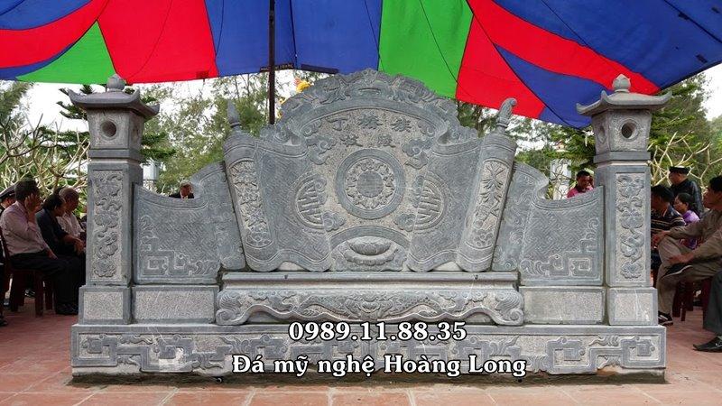 Bình phong đá khu lăng mộ làm tại Sơn La
