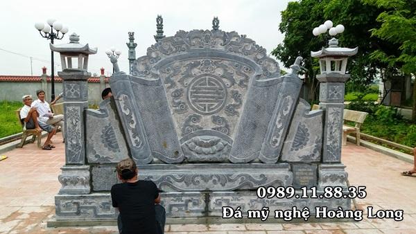 Chế tác cuốn thư đá đình chùa