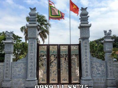 Lắp đặt cột cổng đá nhà thờ họ tại Nghệ An