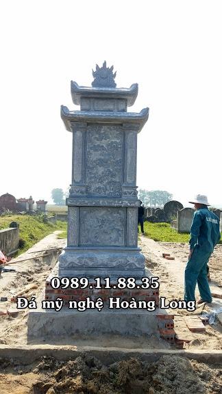 Kích thước mộ hai mái đá