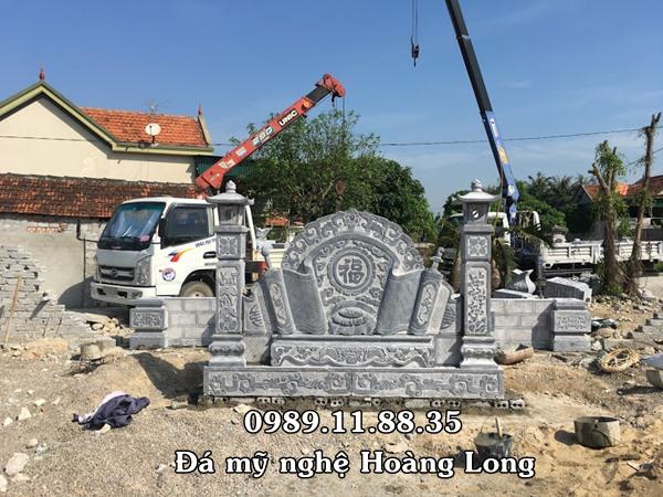 Làm cổng đá nhà thờ họ