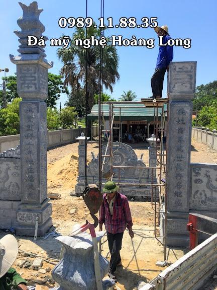 Làm cổng nhà thờ họ bằng đá