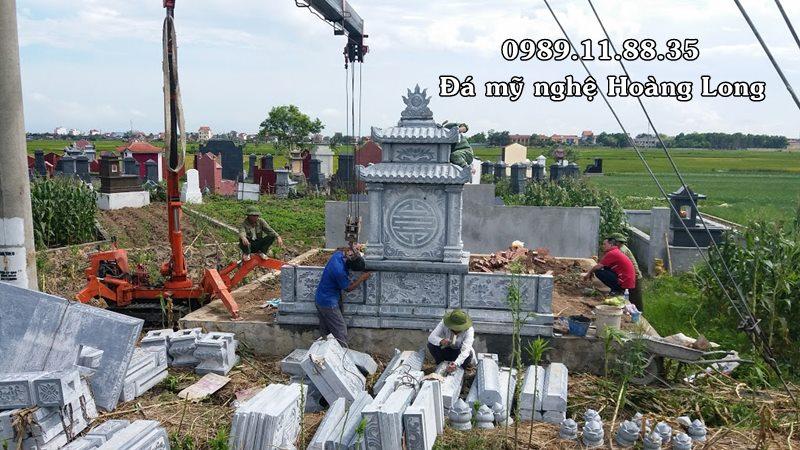 Làm khu lăng mộ bằng đá