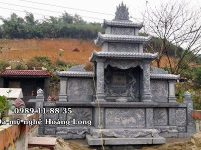Làm lăng mộ đá dòng họ Nguyễn Đình tại Bảo Thắng, Lào Cai