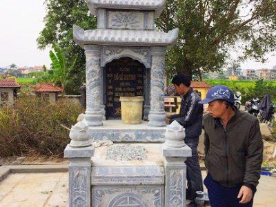 Làm mộ đá ba mái ở Hà Nội