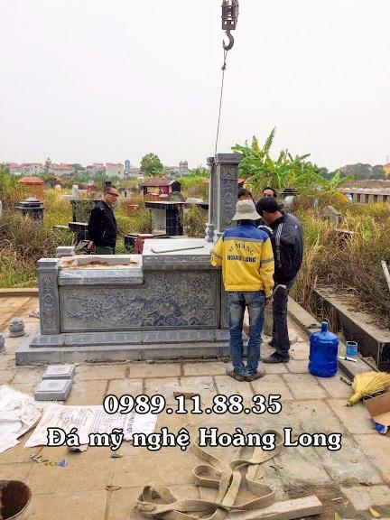 Lắp đặt mộ đá ba mái