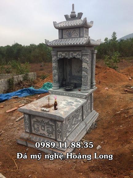 Mẫu mộ đá hai mái lắp tại Vĩnh Phúc