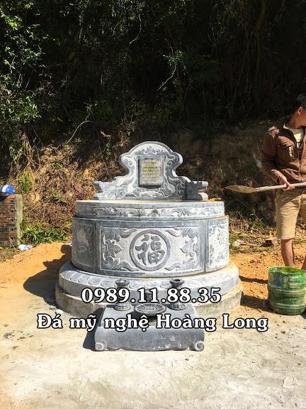 Mẫu mộ đá tròn lắp tại Quảng Ninh