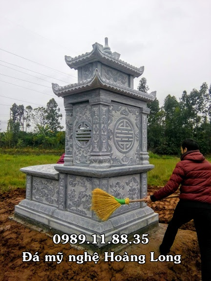 Mẫu mộ hai mái đá đẹp