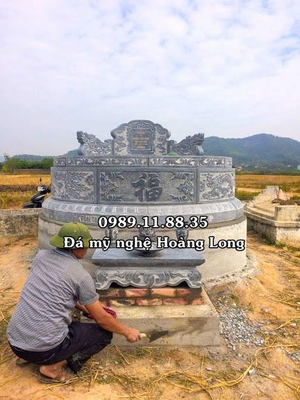 Mẫu mộ tròn lắp đặt ở Hòa Bình