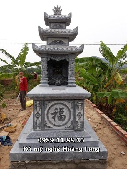 Mộ đá ba đao thiết kế cổ kính