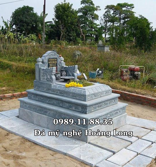 Mộ đá tam cấp lắp đặt tại Yên Bái