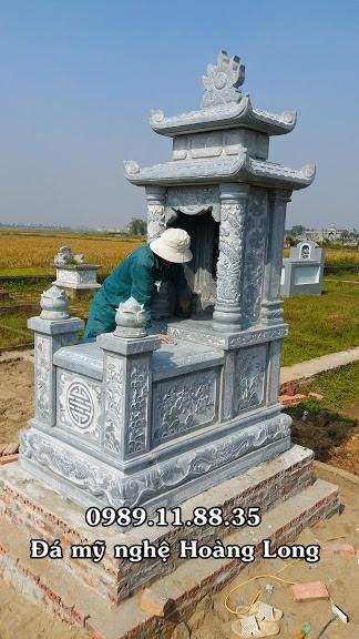 Mộ hai mái đẹp lắp đặt tại Sơn La