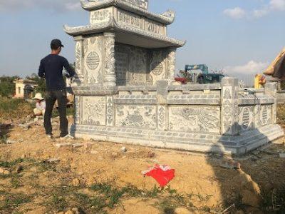 Làm mộ tổ bằng đá xanh tự nhiên