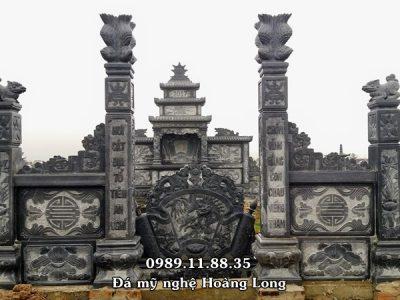 Khu lăng mộ bằng đá làm tại Điện Biên