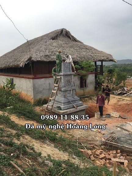 Lắp đặt mộ đá tháp