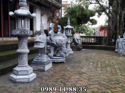 Bộ đồ thờ bằng đá tiến cúng đình chùa