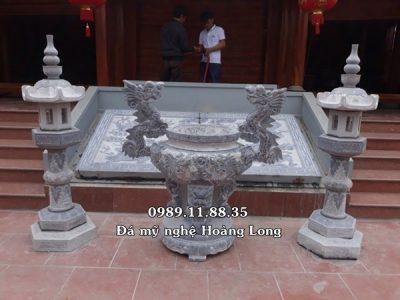 Mẫu lư hương đèn đá đình chùa