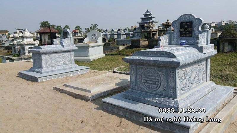 Mẫu mộ đá hậu bành đơn giản đẹp nhất