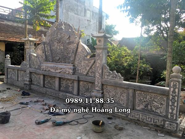 Bức bình phong đá lắp đặt tại Hà Nội