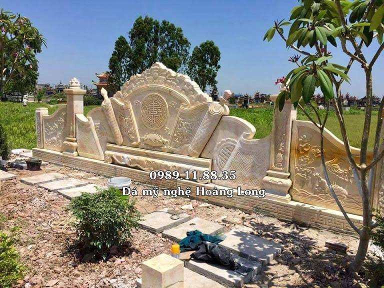 Cuốn thư đá khu lăng mộ cao cấp