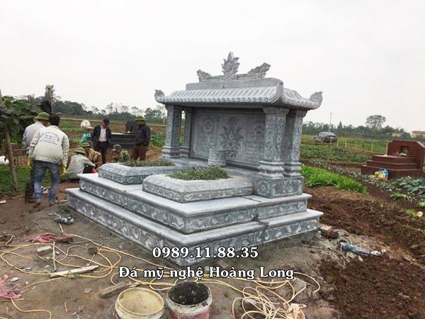 Hình ảnh mộ đôi bằng đá