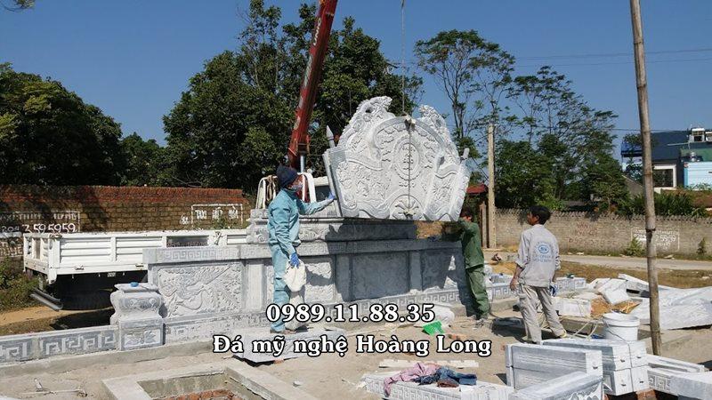 Khu lăng mộ đá lắp đặt tại Bắc Giang