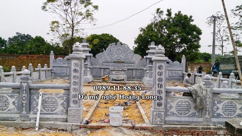 Làm khu lăng mộ đá gia đình tại Bắc Giang