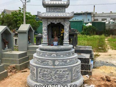 Làm mộ đá tròn tại Hưng Yên