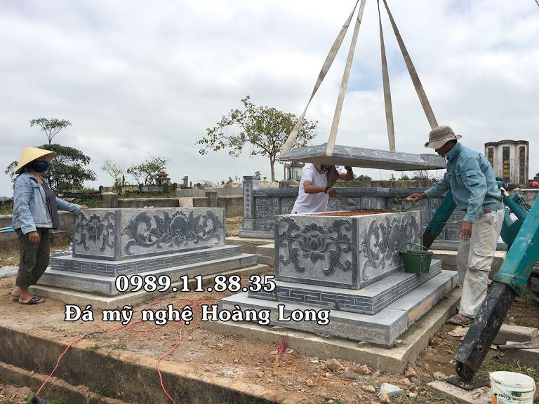 Lăng mộ đá lắp đặt tại Quảng Bình