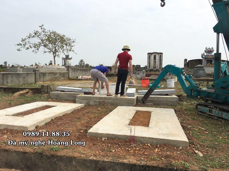 Lắp đặt lăng mộ bằng đá