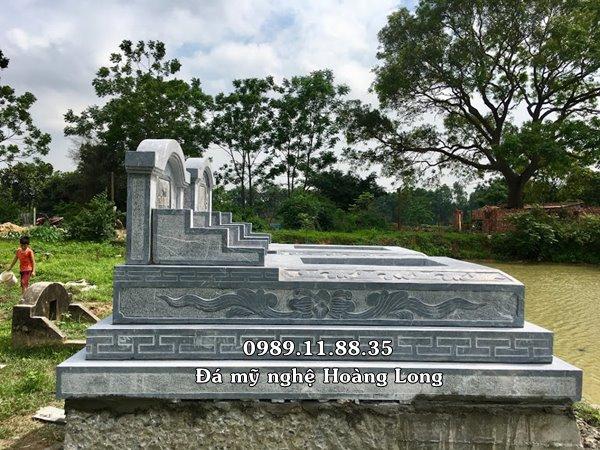 Lắp đặt mộ tam cấp bằng đá tại Cao Bằng