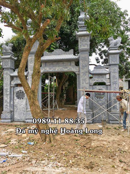Mẫu cổng đá từ đường tại Quảng Trị