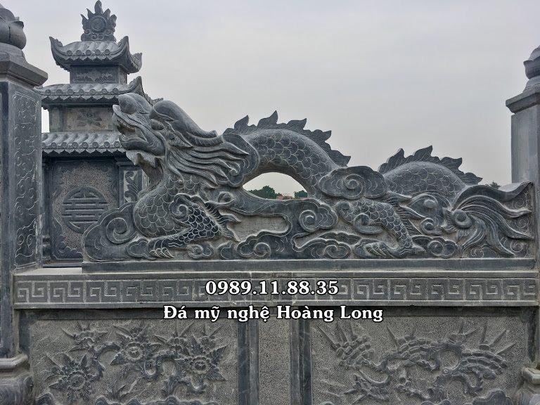 Rồng đá khu lăng mộ