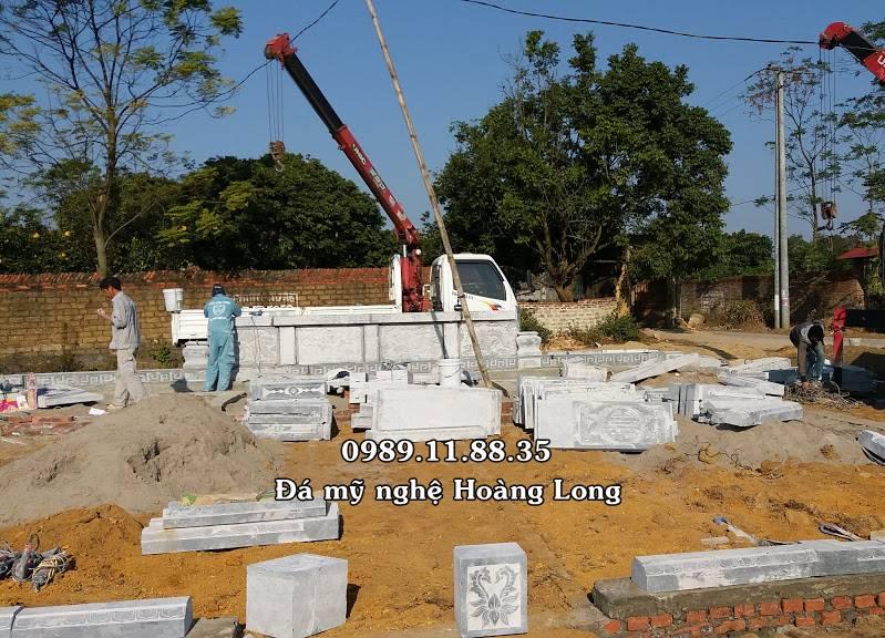 Thi công lắp đặt khu lăng mộ