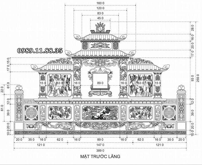 Thiết kế lăng mộ đá