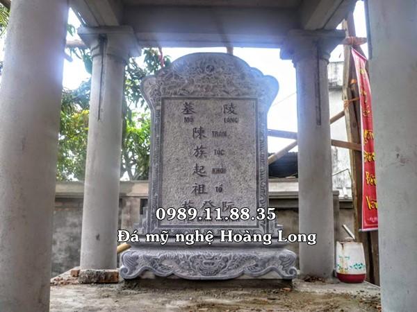 Bia đá khu lăng mộ dòng họ