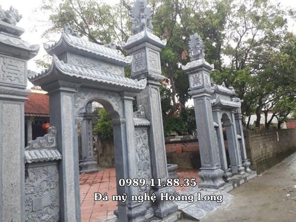 Cổng đá tam quan nhà thờ họ tại Thái Bình