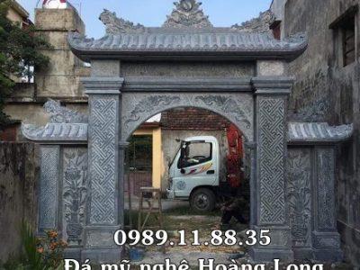 Mẫu cổng từ đường bằng đá