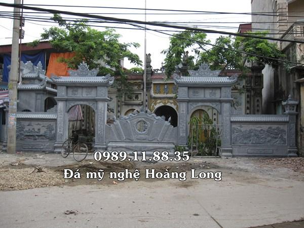 Cổng tam quan đền thờ