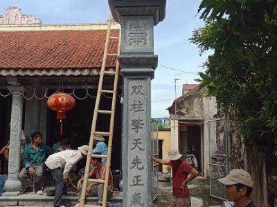 Cột đá đồng trụ nhà thờ họ